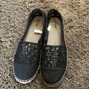 Mossimo slip on flat espadrilles black 8.5